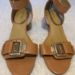 Nine West Wedge with Gold Hardware